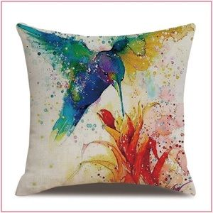 Hummingbird Pillow \ Watercolor